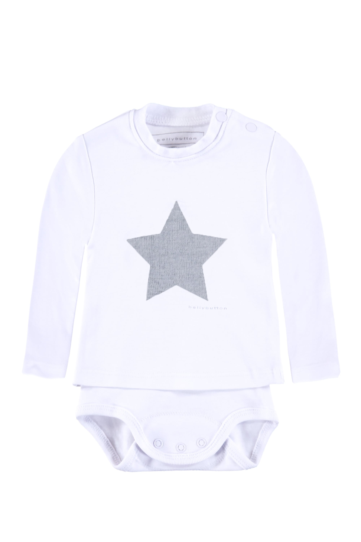 Image of Bellybutton Shirt-Body langärmlig mit Sternenprint