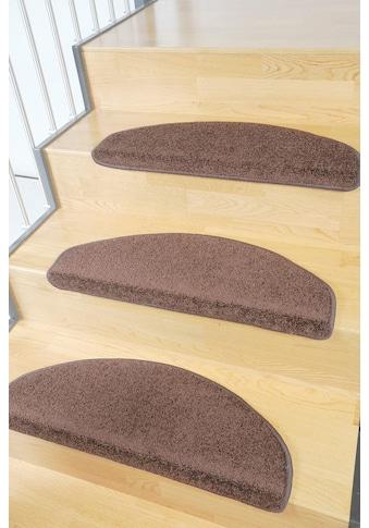 Living Line Stufenmatte »Trend«, halbrund, 8 mm Höhe, grosse Farbauswahl, Velours, 15 Stück in einem Set kaufen