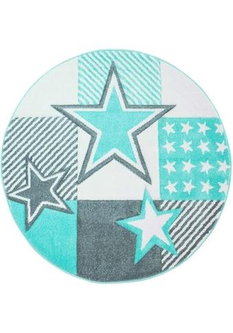 Carpet City Kinderteppich »Bueno Kids 1451«, rund, 13 mm Höhe, Sterne, Kurzflor kaufen
