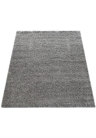 Paco Home Hochflor-Teppich »Twister 500«, rechteckig, 45 mm Höhe, Uni Hochflor Shaggy mit hoher Fadendichte, Wohnzimmer kaufen