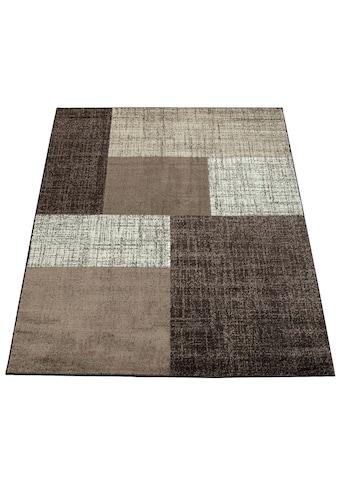 Paco Home Teppich »Mondial 105«, rechteckig, 14 mm Höhe, Kurzflor im Karo Design, Wohnzimmer kaufen