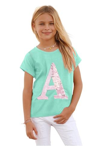 Arizona T-Shirt, mit Wendepailletten kaufen