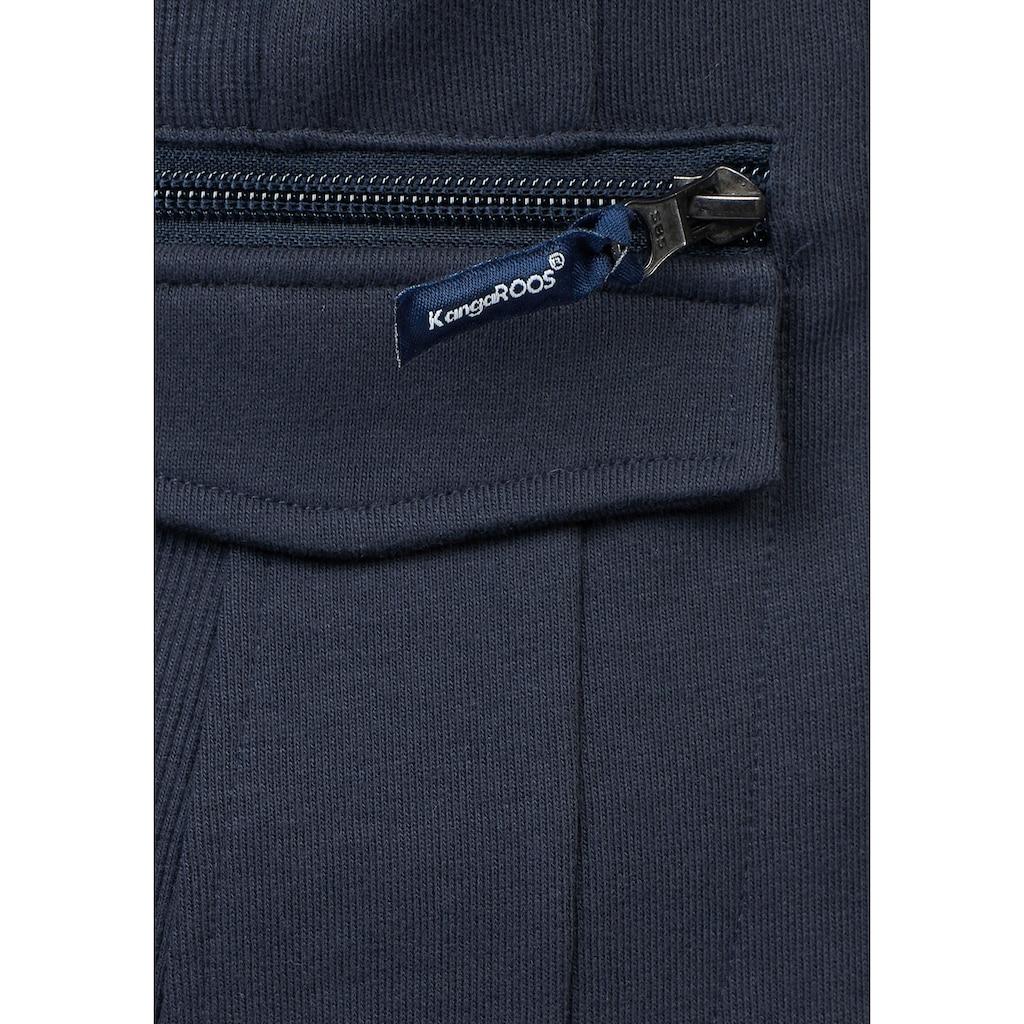 KangaROOS Sweatblazer, mit vielen Details und abnehmbarer Kapuze