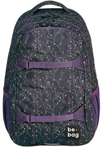 Pelikan Schulrucksack »be.bag be.explorer, Flower Wall«, Reflektionsnähte-reflektierende Streifen auf den Schultergurten kaufen
