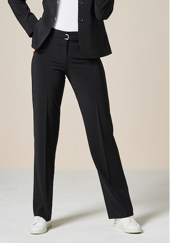 bianca Anzughose »PARIGI«, coole, gerade Basic Hose mit dezentem Gürtel kaufen