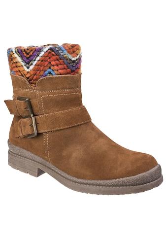 Fleet & Foster Winterstiefel »Damen Stiefel Bern mit buntem Knöchelbereich« kaufen