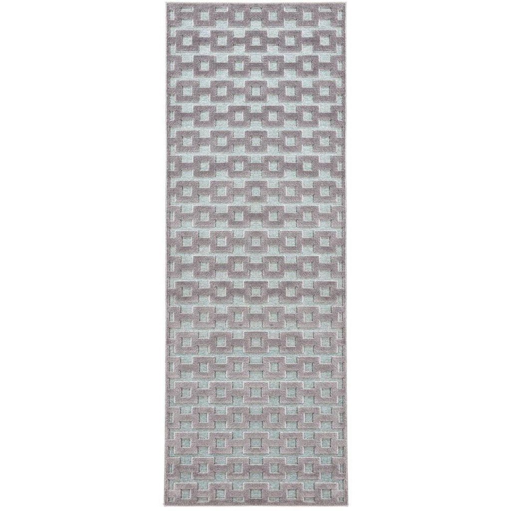 MINT RUGS Läufer »Bouton«, rechteckig, 4 mm Höhe, Hoch-Tief-Effekt