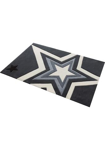 Rock STAR Baby Teppich »704«, rechteckig, 10 mm Höhe, handgearbeiteter Konturenschnitt kaufen