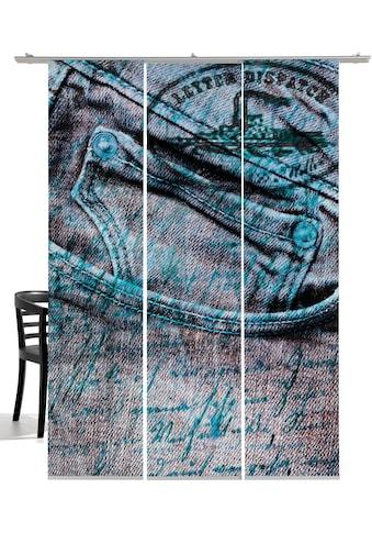 emotion textiles Schiebegardine »Jeans«, HxB: 260x60, mit Befestigungszubehör kaufen