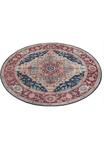 NOURISTAN Teppich »Sylla«, rund, 5 mm Höhe, Vintage Design, Orient-Optik, Wohnzimmer kaufen