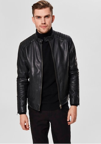 SELECTED HOMME Lederjacke »RACER LEATHER JKT« kaufen