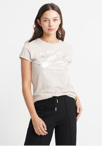 Superdry T - Shirt »RO TEXT INFILL ENTRY TEE« kaufen