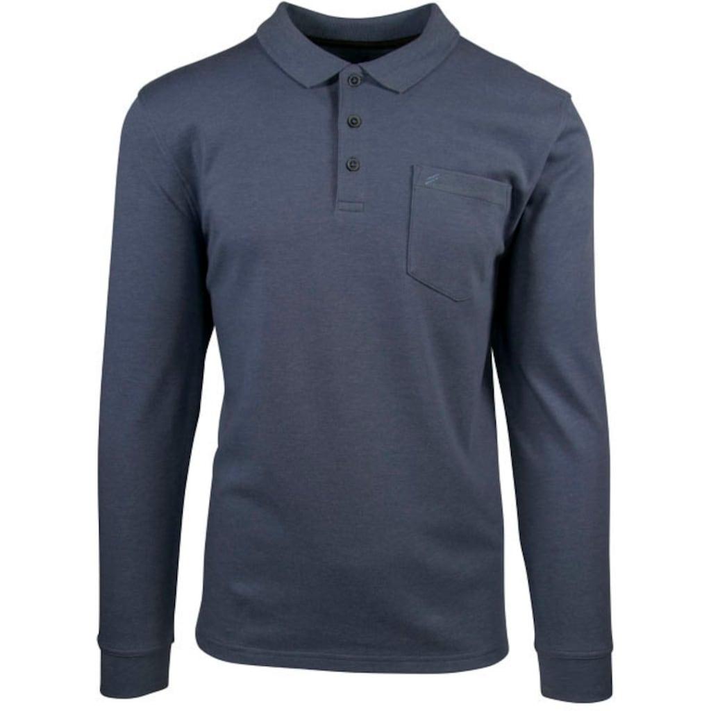 Daniel Hechter Langarm-Poloshirt, mit Brusttasche