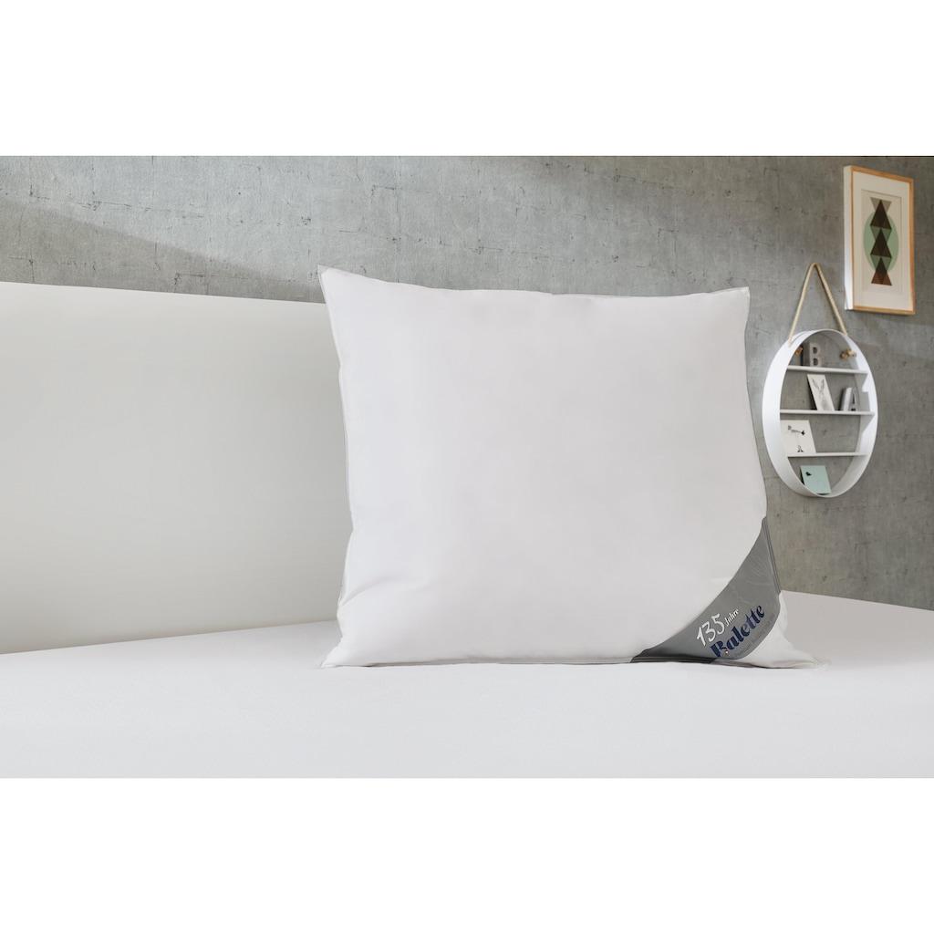 Balette Federkopfkissen »Kopfkissen/-pfulmen Sofia«, Füllung: neue reine Entenfederchen weiss, Bezug: 100% Baumwolle, (1 St.)