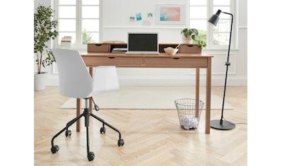 my home Schreibtisch »Gava«, aus massiven Kiefernholz, mit praktischen Griffmulden, in... kaufen