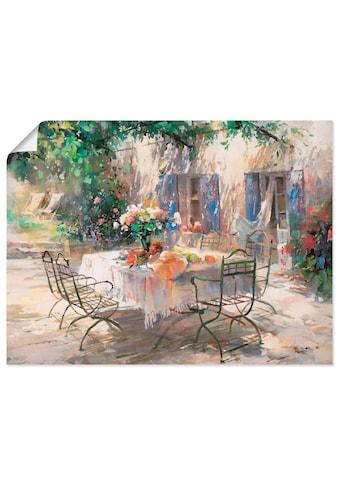 Artland Wandbild »Schatten Garten«, Garten, (1 St.), in vielen Grössen & Produktarten -Leinwandbild, Poster, Wandaufkleber / Wandtattoo auch für Badezimmer geeignet kaufen