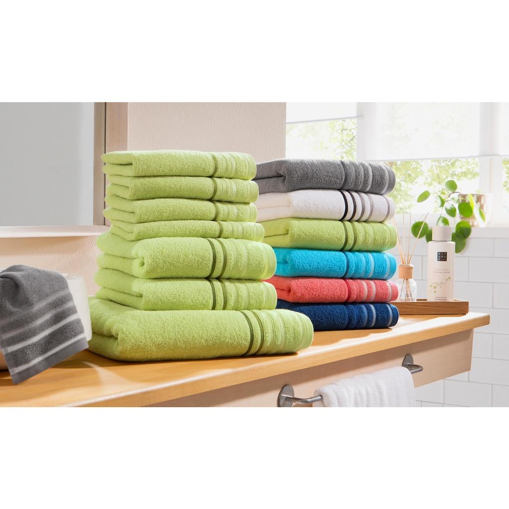 my home Handtuch Set »Niki«, mit Streifenbordüren