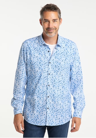 Pioneer Authentic Jeans Langarmhemd, All-Over-Print kaufen