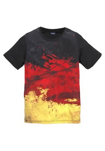 Arizona T - Shirt »schwarz/rot/goldfarben/ Deutschland« kaufen