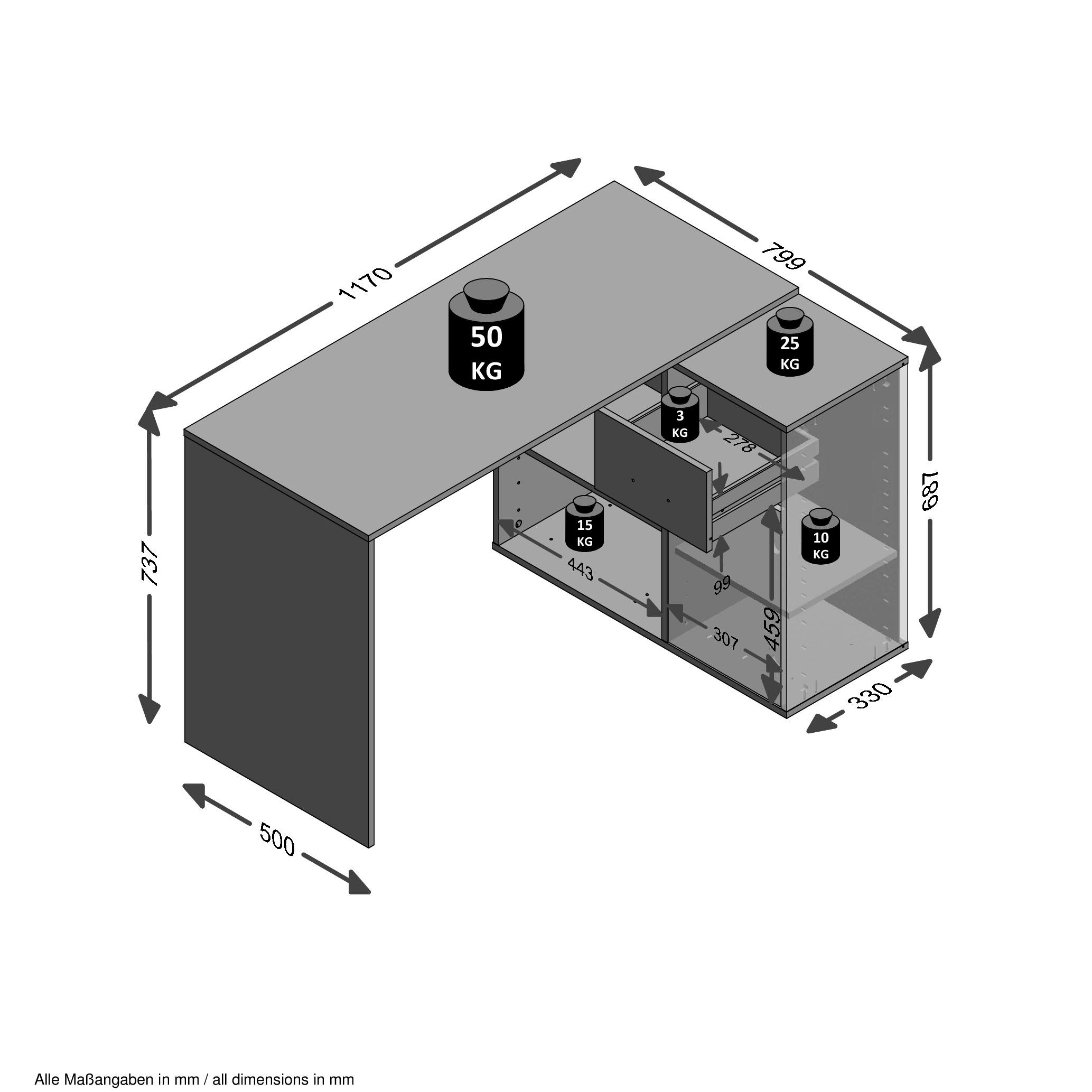 Image of FMD Eckschreibtisch »ALBRECHT«