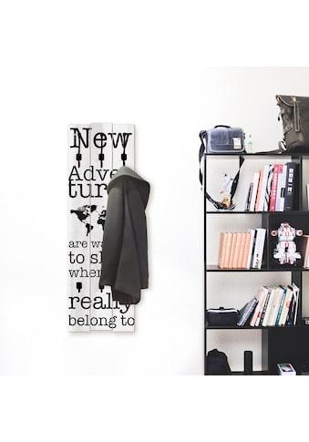 Artland Garderobenpaneel »Neue Abenteuer«, platzsparende Wandgarderobe aus Holz mit 5... kaufen