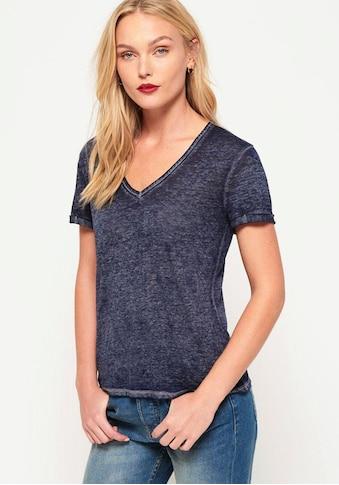 Superdry V - Shirt »BURNOUT VEE TEE« kaufen