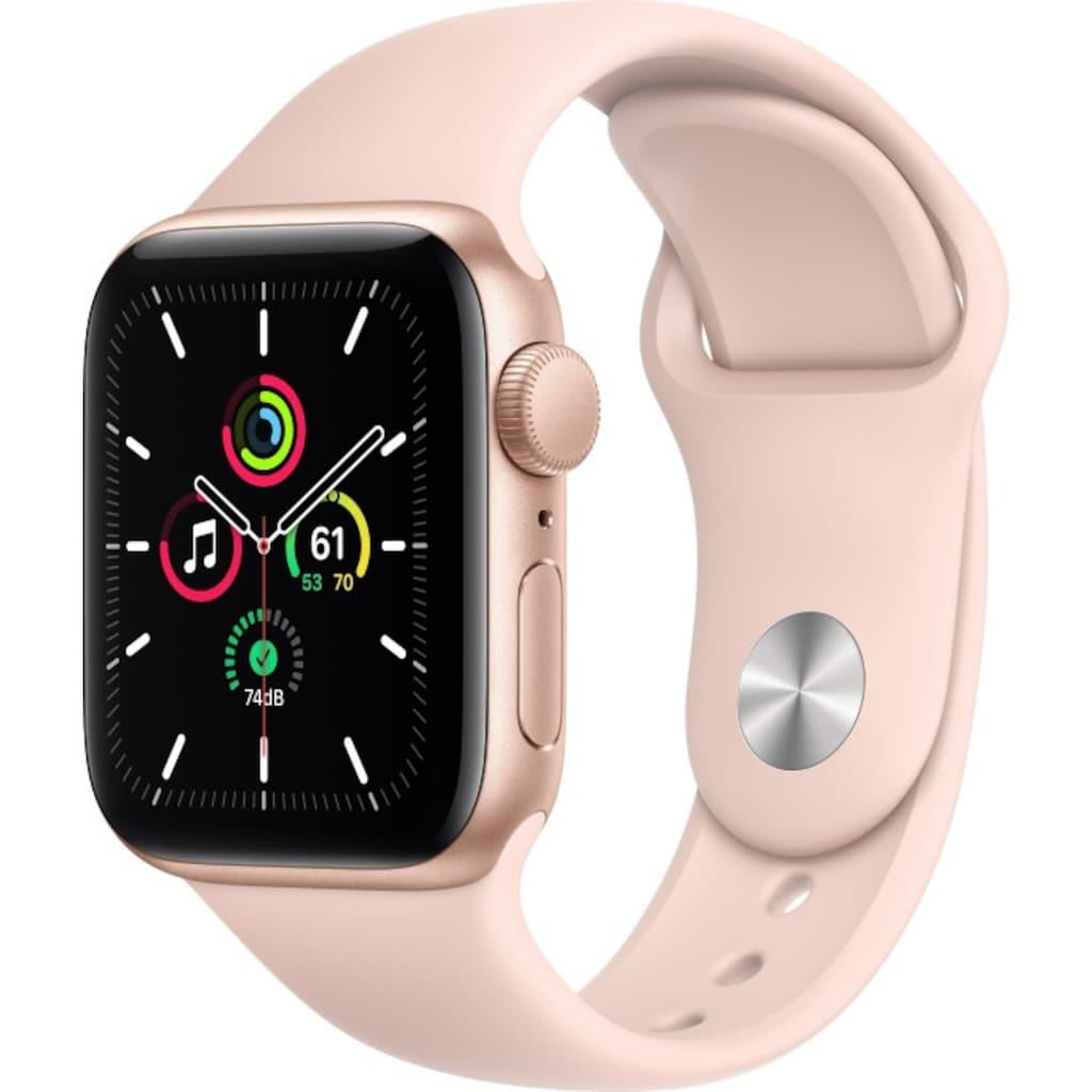 Apple Smartwatch »Apple Watch Series SE GPS, Aluminium Gehäuse, 40 mm mit Sportarmband«,