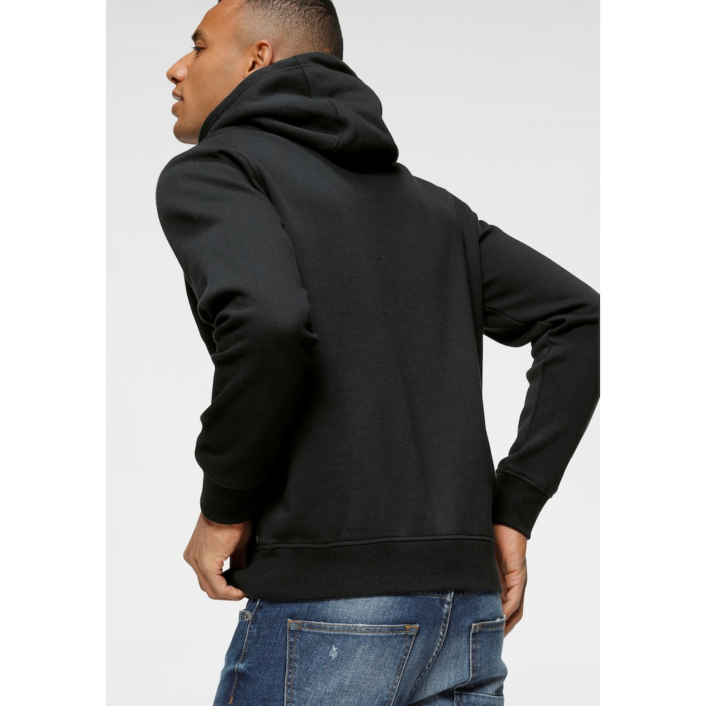 Bruno Banani Kapuzensweatshirt, mit gummierten Markenprint vorne