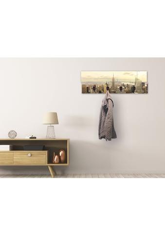 Artland Garderobenpaneel »Skyline Manhattan - New York«, platzsparende Wandgarderobe... kaufen