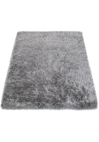 Paco Home Hochflor-Teppich »Glamour 300«, rechteckig, 70 mm Höhe, Shaggy mit weichem Glanz Garn, Uni Farben, Wohnzimmer, Kundenliebling mit 4,5 Sterne-Bewertung! kaufen