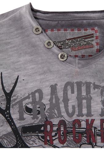 Andreas Gabalier Kollektion Trachtenshirt Kinder mit rockigem Printmotiv acheter