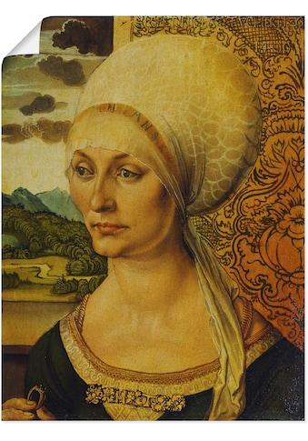 Artland Wandbild »Bildnis der Elisabeth Tucher. 1499«, Frau, (1 St.), in vielen... kaufen