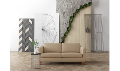 machalke® 2,5-Sitzer »amadeo«, Ledersofa mit geschwungenen Armlehnen, Breite 180 cm kaufen