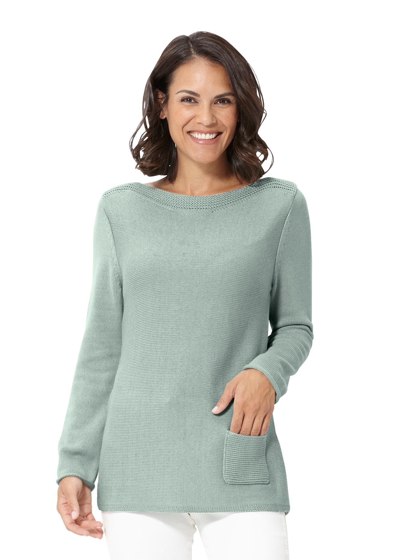 Image of Casual Looks Pullover mit Zierstrickkante