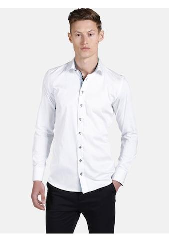 SHIRTMASTER Langarmhemd »leavesfalling«, mit detaillierten Kontrasten kaufen