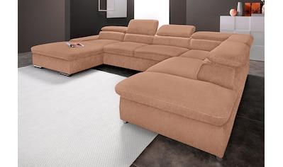 sit&more Wohnlandschaft, inkl. Kopfteilverstellung und wahlweise mit Bettfunktion kaufen
