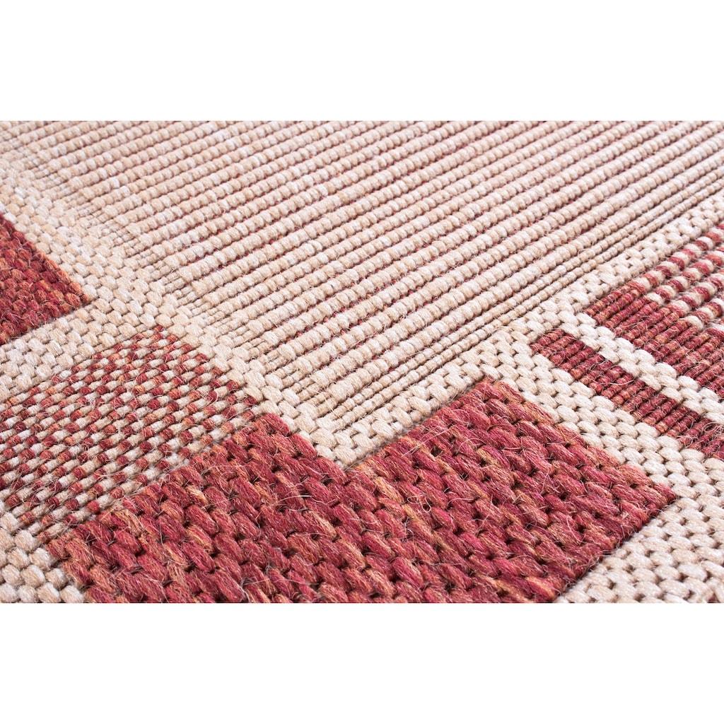 Andiamo Teppich »New Orleans 2«, rechteckig, 5 mm Höhe, Flachgewebe, mit Bordüre, In- und Outdoor geeignet, Wohnzimmer