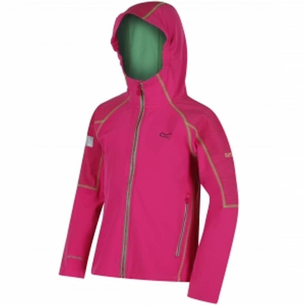 Regatta Softshelljacke »Great Outdoors Kinder Acidity II Softshell Jacke mit Kapuze, reflektierend«