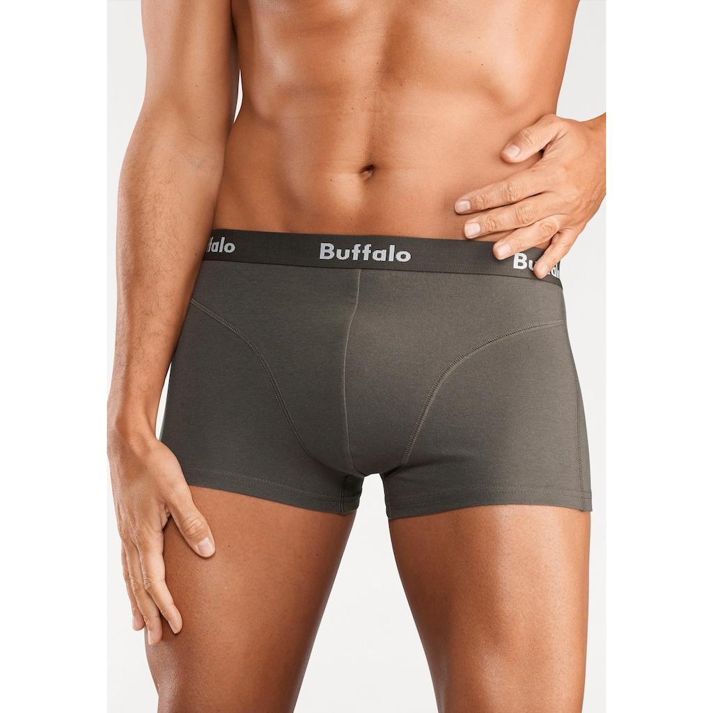 Buffalo Hipster, (Packung, 3 St., 3er-Pack), mit Overlock-Nähten vorn