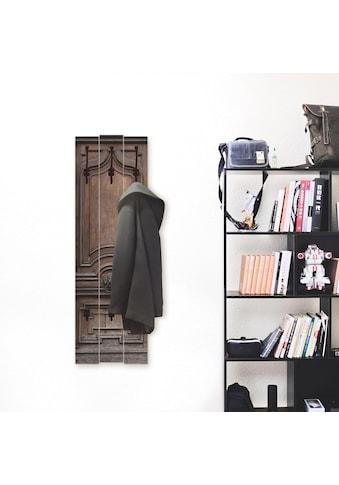 Artland Garderobenpaneel »Alte, massive Tür«, platzsparende Wandgarderobe aus Holz mit... kaufen