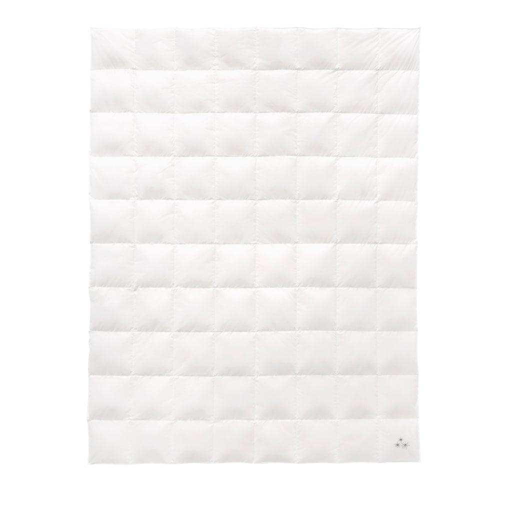 Balette Sommerbettdecke »Weiss & Edel«, Füllung reine Entendaunen 60%, Bezug 100% Baumwolle, (1 St.), mit Edelweiss-Stickerei
