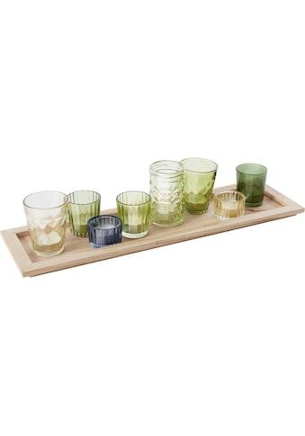 INOSIGN Kerzentablett, mit 8 bunten Teelichthaltern aus Glas kaufen