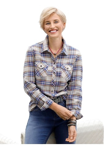 Casual Looks Flanell - Bluse im Karo - Dessin kaufen
