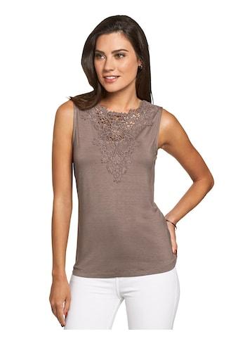 Shirttop mit Spitzenbesatz kaufen