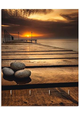 Artland Schlüsselbrett »Sonnenaufgang am Schwarzen Meer«, aus Holz mit 4... kaufen