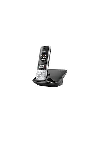 Gigaset Schnurloses DECT-Telefon »S850 Anthrazit Silberfarben« kaufen