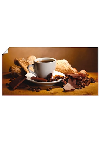 Artland Wandbild »Kaffeetasse Zimtstange Nüsse Schokolade« kaufen
