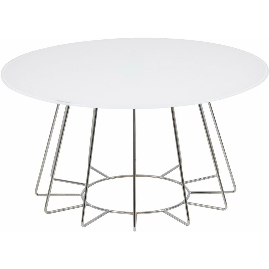 andas Couchtisch »Carola«, mit einer Tischplatte aus Glas und einem schönen Metallgestell in unterschiedlichen Ausführungen