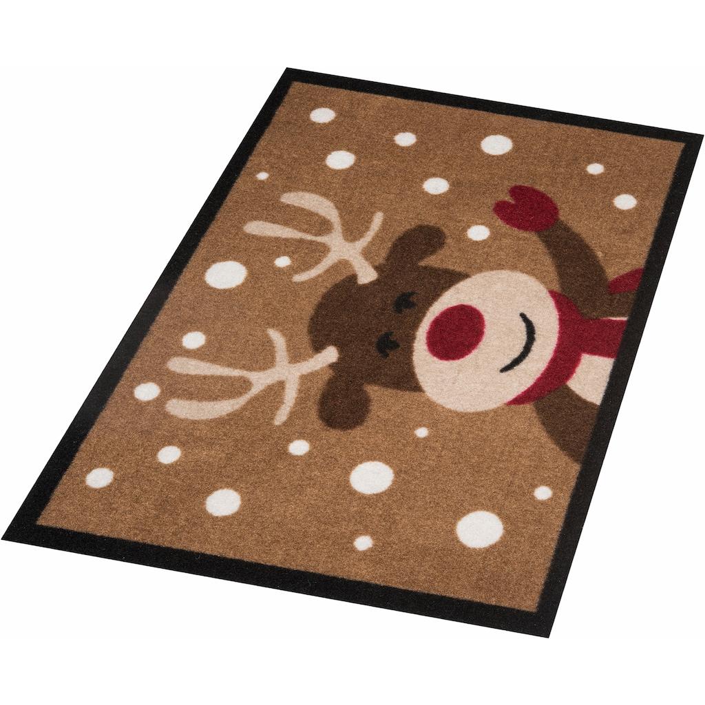 HANSE Home Fussmatte »Reindeer«, rechteckig, 7 mm Höhe, Fussabstreifer, Fussabtreter, Schmutzfangläufer, Schmutzfangmatte, Schmutzfangteppich, Schmutzmatte, Türmatte, Türvorleger, In- und Outdoor geeignet