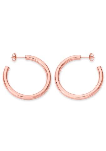 ROSEFIELD Paar Creolen »Iggy Classic hoop big rosegoldfarben, JCHSR - J082, J085« kaufen